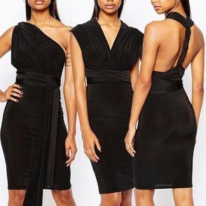 BooHoo multiway black dress